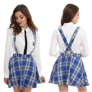Harry Potter Suspender School Skirt Ravenclaw Blue